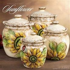 sunflower canisters for kitchen ceramic provence sunflower canister set from my home