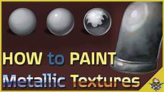 how to paint metal and reflective textures digital art tutorial youtube