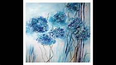 Acryl Malvorlagen Blumen Acrylmalerei Bl 252 Ten Malen Painting Flowers Tutorial