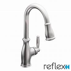 moen kitchen faucet single handle moen brantford single handle kitchen faucet reviews wayfair