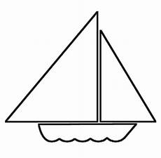 malvorlage segelboot kleines boot zum ausmalen