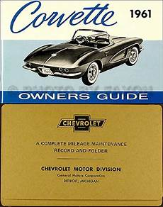 book repair manual 2012 chevrolet corvette free book 1961 corvette owners manual with envelope 61 owner guide book new chevrolet ebay