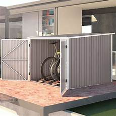 fahrradbox und fahrradgarage aus metall infos preise