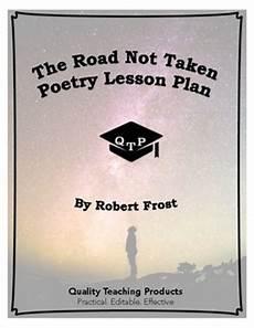 lesson plan for teaching the road not taken the road not taken poem by by quality teaching products teachers pay teachers