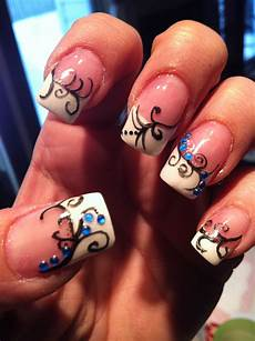 swirls nail designs diy nails cute nails