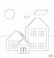 minecraft house coloring page free printable coloring pages