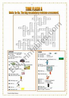 time revision worksheets 3176 time flash a units 1a 8a the big vocabulary revision crossword esl worksheet by magneto
