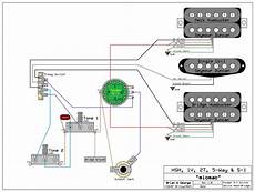 Hsh Wiring Diagram 2 Volume 1 Tone by Need Wiring Diagram For An Hsh 1 Volume 2 Tone S 1 Switch