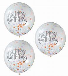 ballons mit konfetti transparente ballons mit konfetti quot happy birthday quot 5 st 252 ck