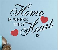home is where the heart is wall sticker removable quote vinyl art decal diy ebay