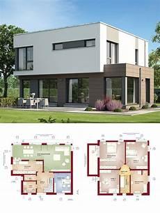 Bauhaus Stadtvilla Modern Mit Flachdach Architektur Haus