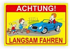 achtung kinder langsam fahren kinderschild