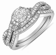 2 carat diamond infinity wedding ring in white gold for jeenjewels