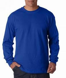 jual kaos polos pria katun combed 30s lengan panjang warna biru benhur di lapak nr sport jersey