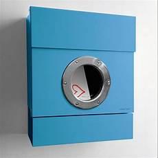 briefkasten mit zeitungsrolle radius radius briefkasten letterman ii blau mit