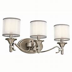 kichler lighting 45283miz 3 light lacey bathroom light