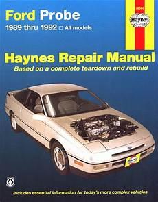 online car repair manuals free 1994 ford probe user handbook ford probe repair service manual 1989 1992 haynes 36066