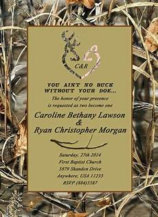 Camo Wedding Invitation Kits