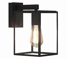 astro box lantern 270 exterior wall light textured black finish with clear glass 1354003 from