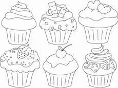Www Malvorlagen Bilder De Geburtstagskalender Cupcakes Cupcake Zeichnung Stoffmalerei Und Bastelarbeiten