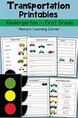 FREE Transportation Themed Worksheets K 1st