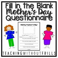 s day printable questionnaire 20586 kindergarten 1st grade 2nd grade s day printable questionnaire happy mothers day