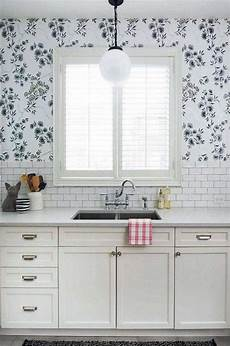20 beautiful wallpaper kitchen backsplashes with nature