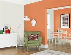 wand farben wandgestaltung ideen wohnzimmer wandfarben weiss orange