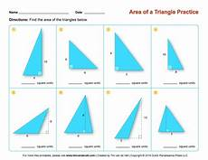 area of a triangle worksheets third grade math worksheets