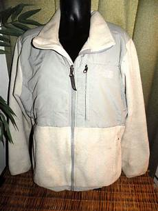 northface jacket l womans denali white grey polartec