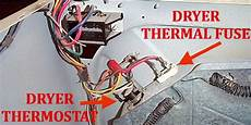 dryer not heating check dryer thermal fuse back removeandreplace com
