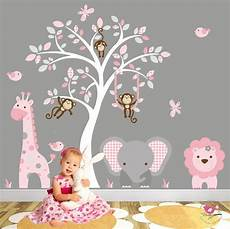 Jungle Decal Blush Pink And Grey Nursery Decor Baby
