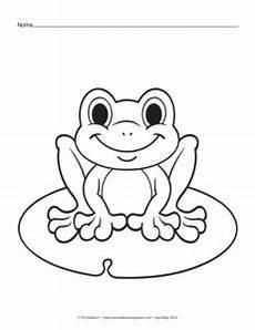 Ausmalbild Frosch Auf Seerosenblatt Frosch Ausmalbild 01 Schnittmuster Co