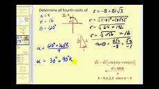 determining the nth roots of a complex number youtube