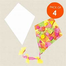 worksheets printable 15561 cardboard cutout kites white pack of 4 paper activities cleverpatch craft supplies