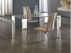Table Transparente Design En Verre Pour La Salle 224 Manger