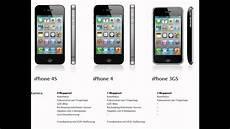apple iphone 4s vs iphone 4 vs iphone 3gs vergleich