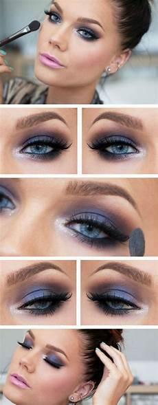 smokey blaue augen die 25 besten ideen zu blaue augen schminken auf