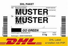 dhl label pdf mit php erstellen