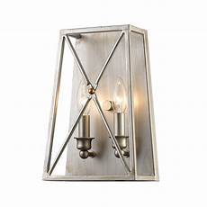 z lite tressle antique silver two light wall sconce 447 2s as bellacor
