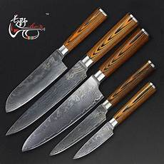 Quality Kitchen Knives Haoye Damascus Steel Five Kitchen Knives Set
