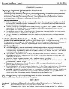 sle cv of hr manager human resources manager resume