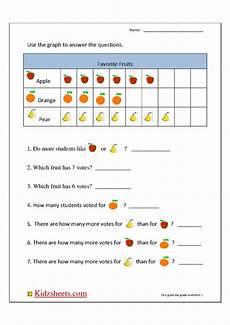 kidz worksheets first grade bar graph1