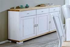 Sideboard Weiß Holz - massivholz kommode wei 223 gelaugt sideboard anrichte kiefer