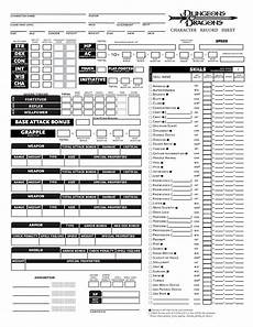 this is a custom character sheet i made for 3 5e of d d this is only the front the back is