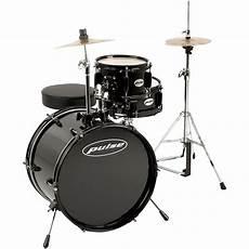 Galleon Pulse 3 Deluxe Junior Drum Set Black