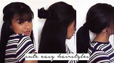 cute easy hairstyles using extensions relaxed hair