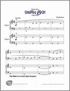 swan lake tchaikovsky beginner piano duet sheet music