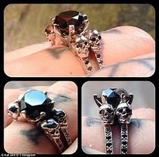 kat von d wedding ring kat von d proudly shows off her black diamond engagement