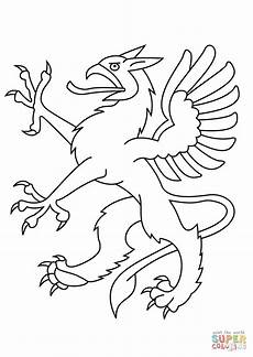 heraldic coloring page free printable coloring pages